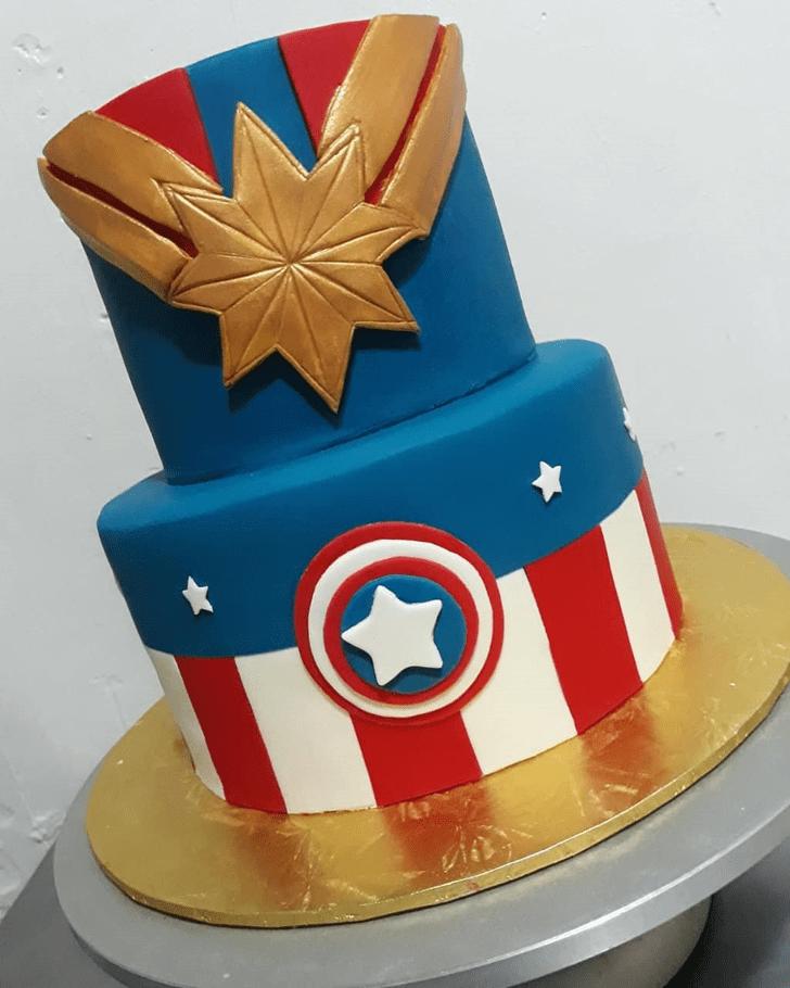 Stunning Captain Marvel Cake