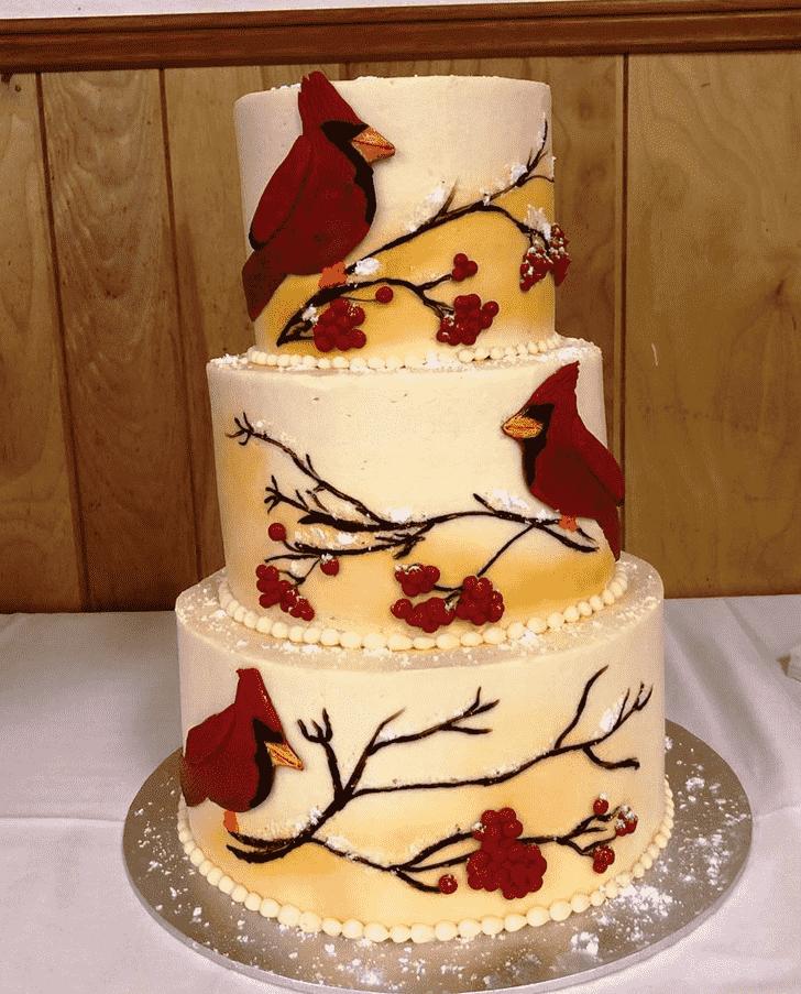 Angelic Cardinal Cake