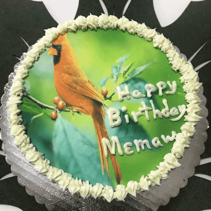 Appealing Cardinal Cake