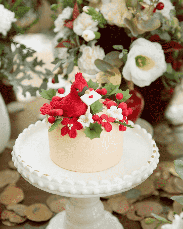 Beauteous Cardinal Cake