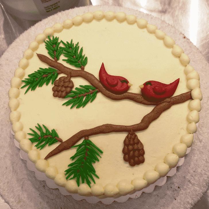 Bewitching Cardinal Cake