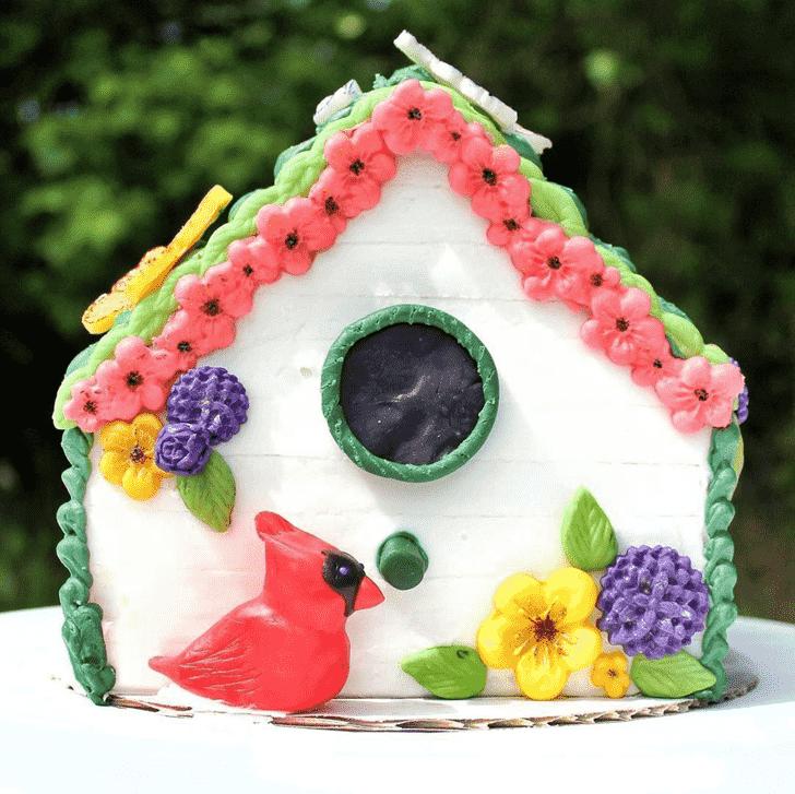 Captivating Cardinal Cake