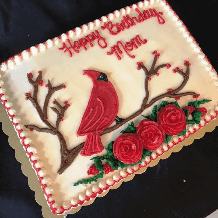 Charming Cardinal Cake