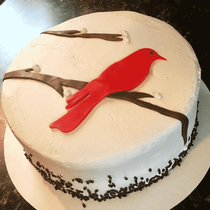 Classy Cardinal Cake