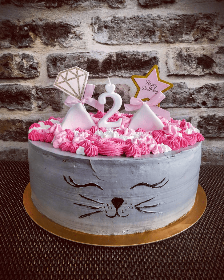 Adorable Cat Cake