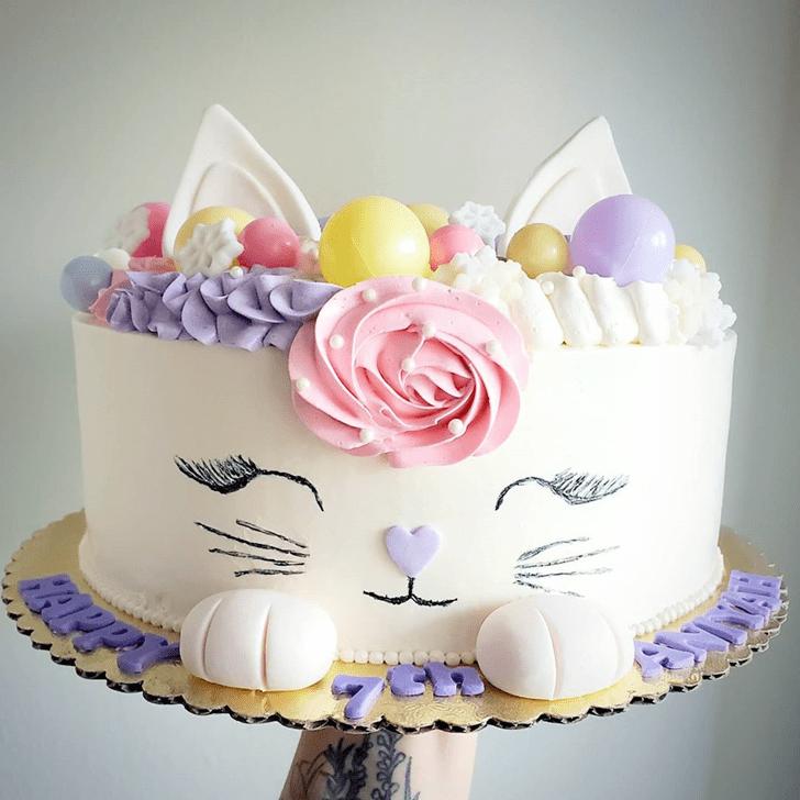 Elegant Cat Cake