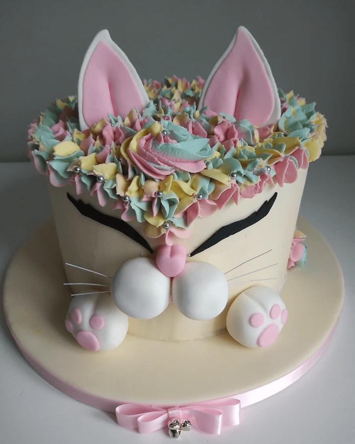 Lovely Cat Cake Design