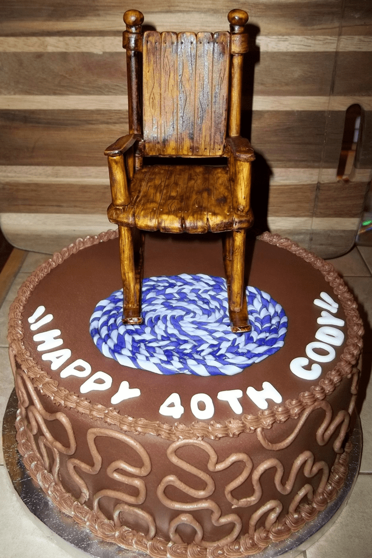 Alluring Chair Cake