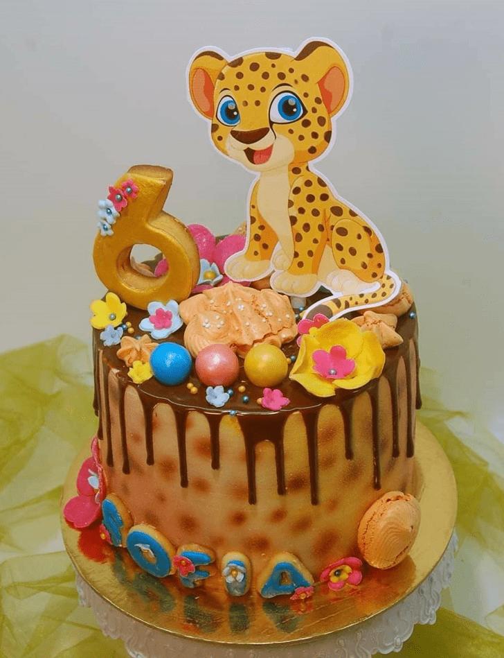 Alluring Cheetah Cake