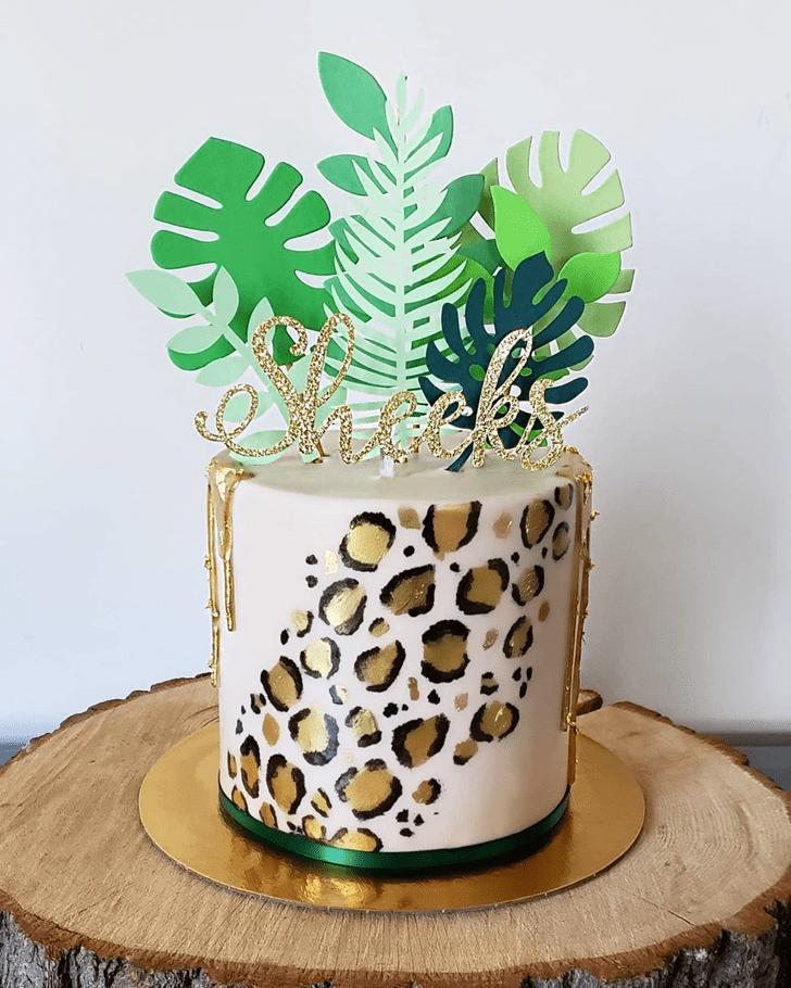 Appealing Cheetah Cake