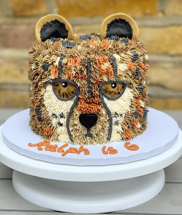 Elegant Cheetah Cake