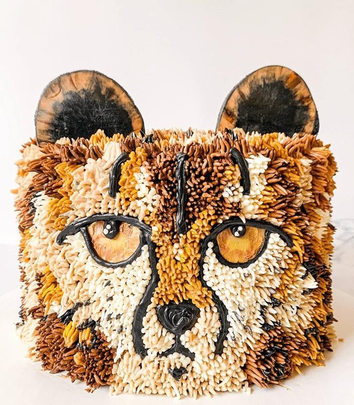 Enticing Cheetah Cake
