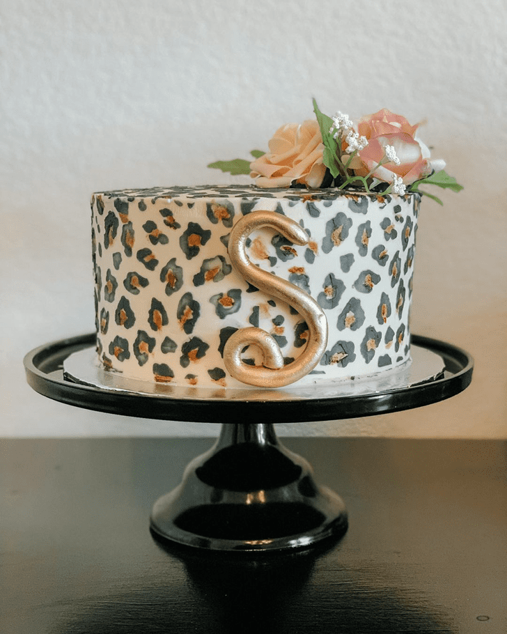 Exquisite Cheetah Cake