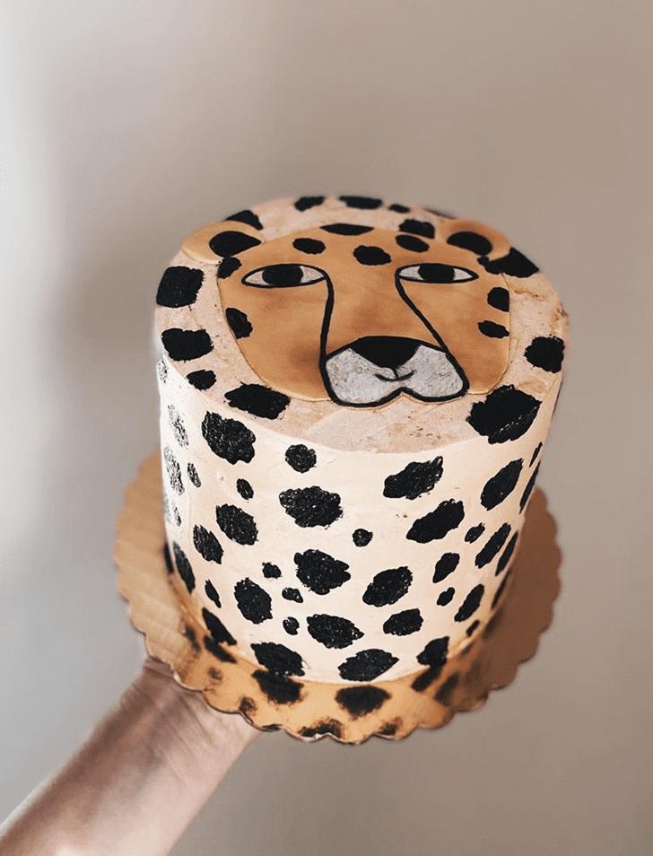 Graceful Cheetah Cake