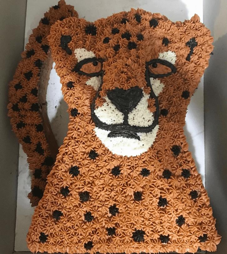Mesmeric Cheetah Cake
