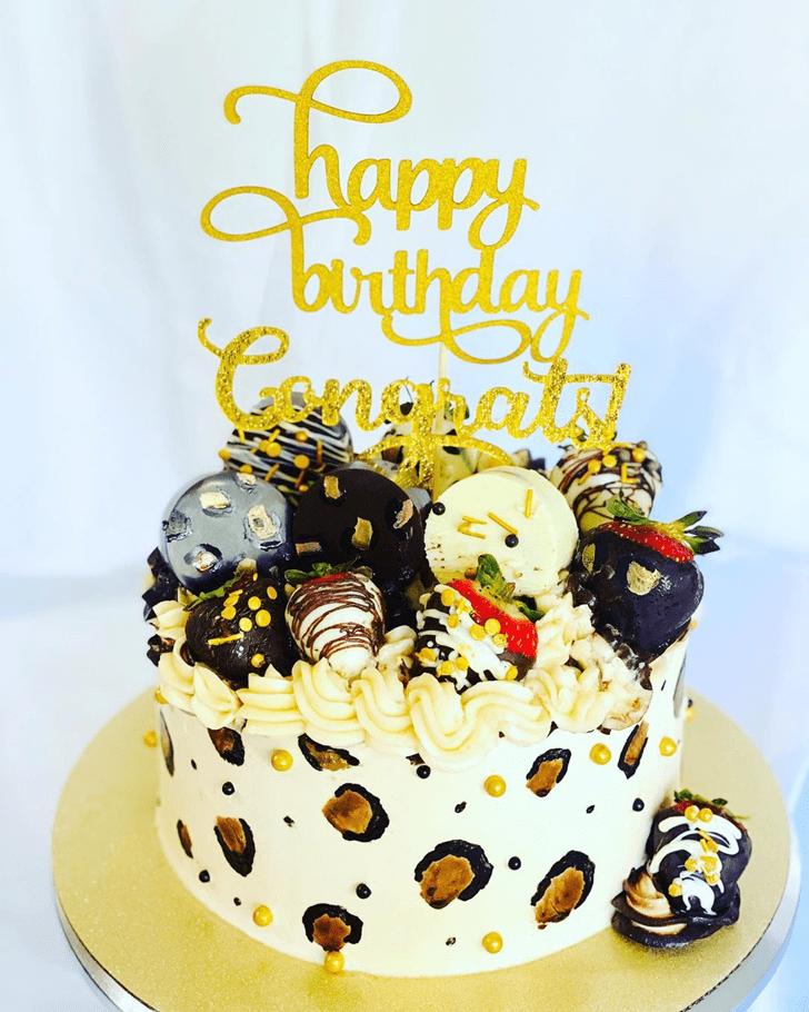 Radiant Cheetah Cake