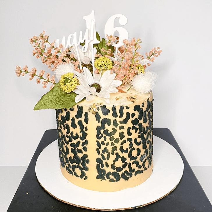 Resplendent Cheetah Cake