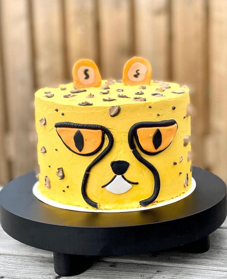 Cheetahful Cheetah Cake Design
