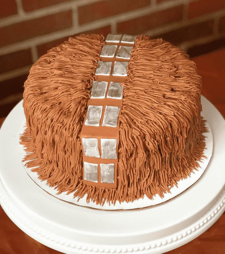 Enticing Chewbacca Cake