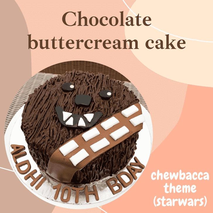 Exquisite Chewbacca Cake