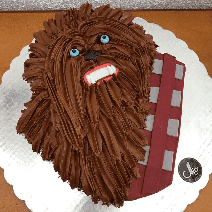 Good Looking Chewbacca Cake