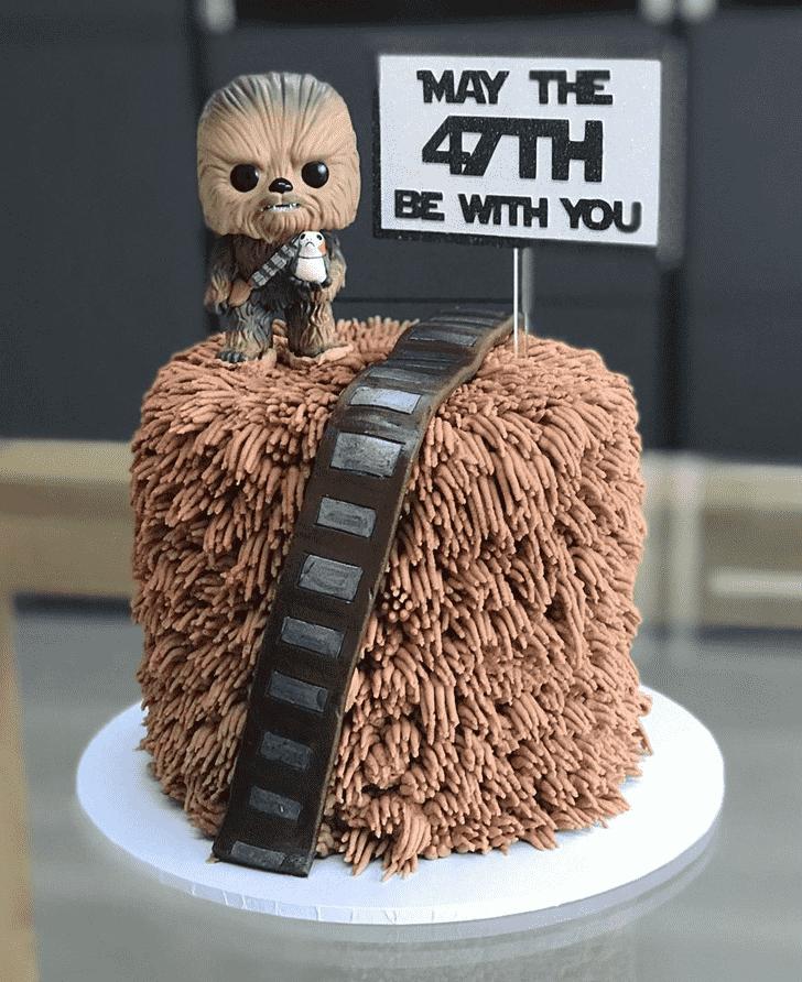 Handsome Chewbacca Cake