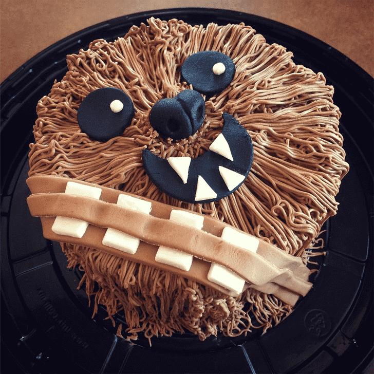 Inviting Chewbacca Cake