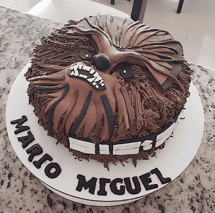 Pretty Chewbacca Cake