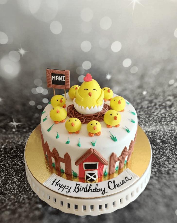 Admirable Chick Cake Design