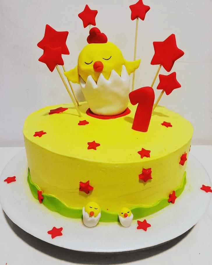 Captivating Chick Cake