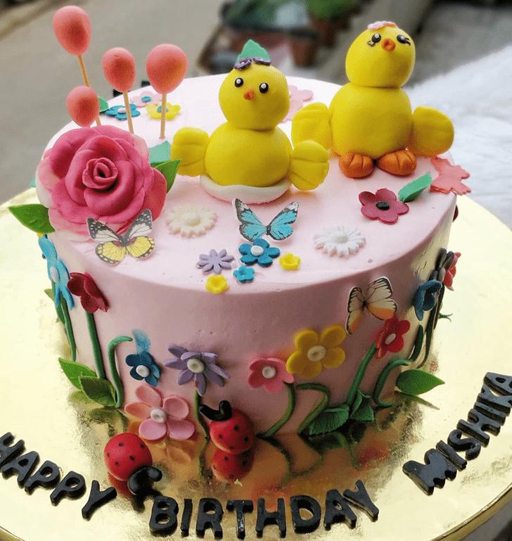 Delicate Chick Cake