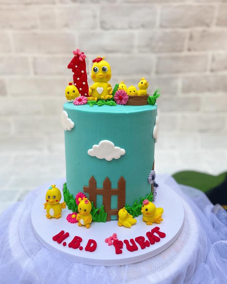 Exquisite Chick Cake