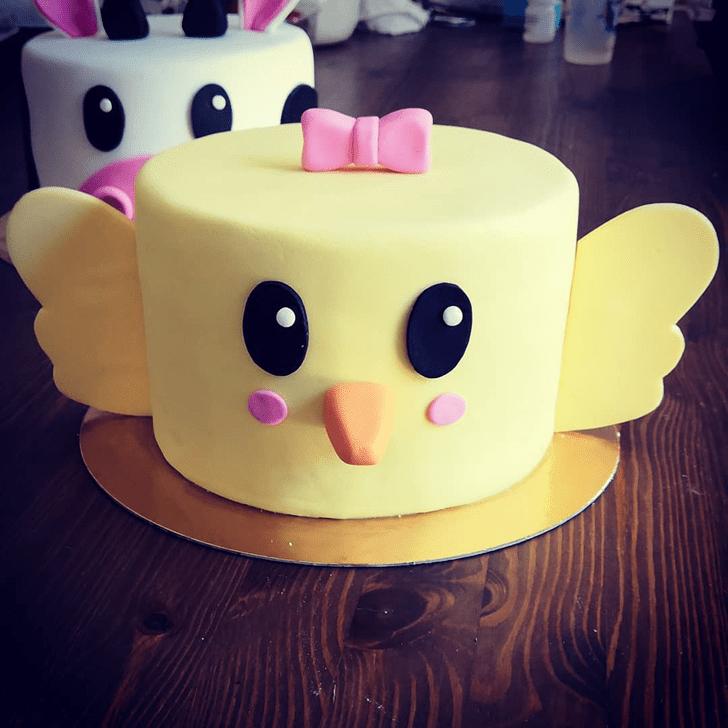 Fascinating Chick Cake