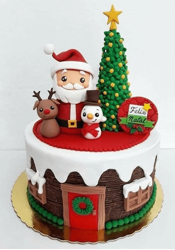 AnChristmasic Christmas Cake