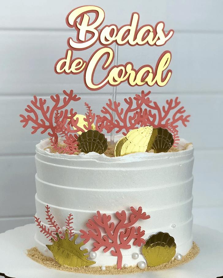 Admirable Coral Cake Design