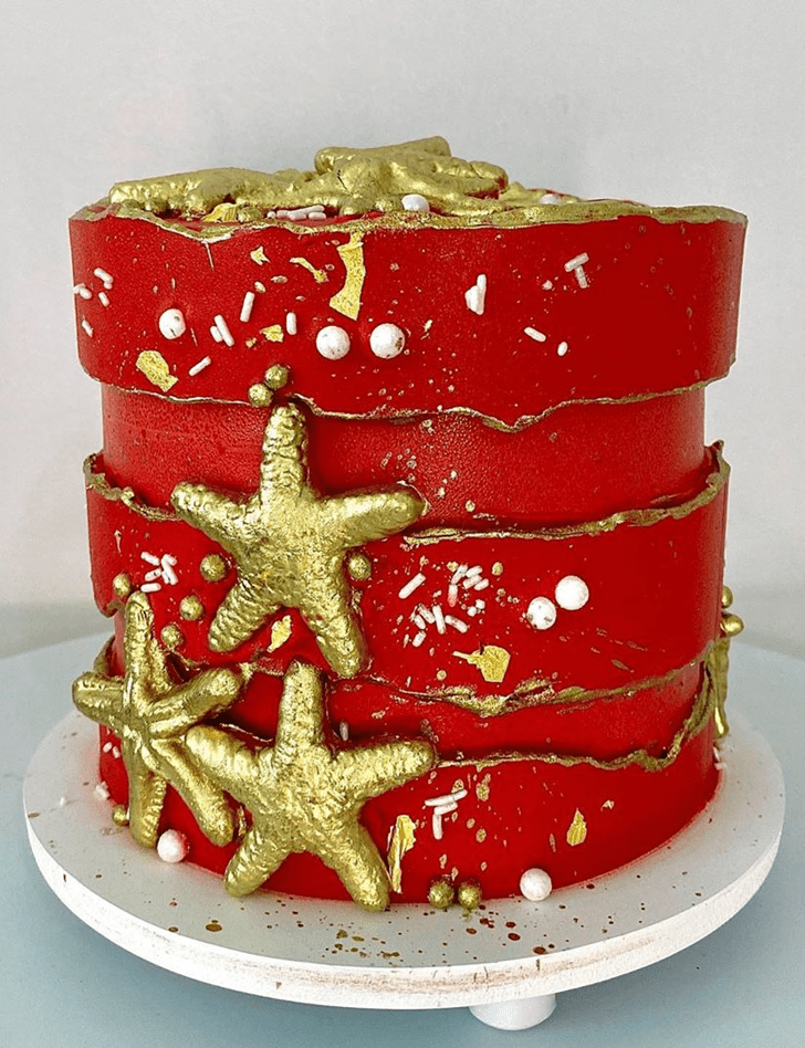Alluring Coral Cake