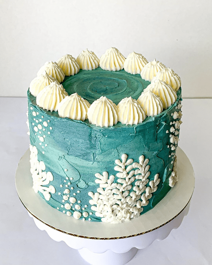 Angelic Coral Cake