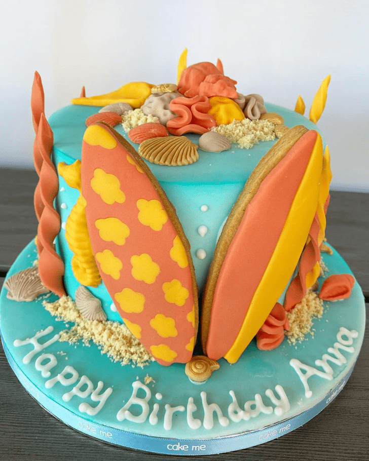 Charming Coral Cake
