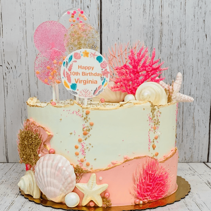 Comely Coral Cake