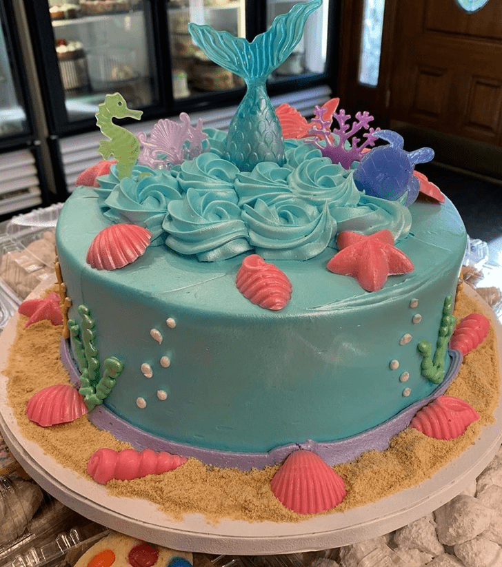 Dazzling Coral Cake