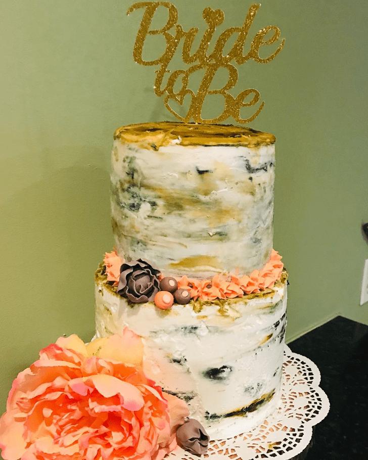 Delicate Coral Cake