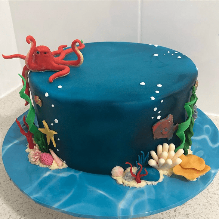 Delightful Coral Cake