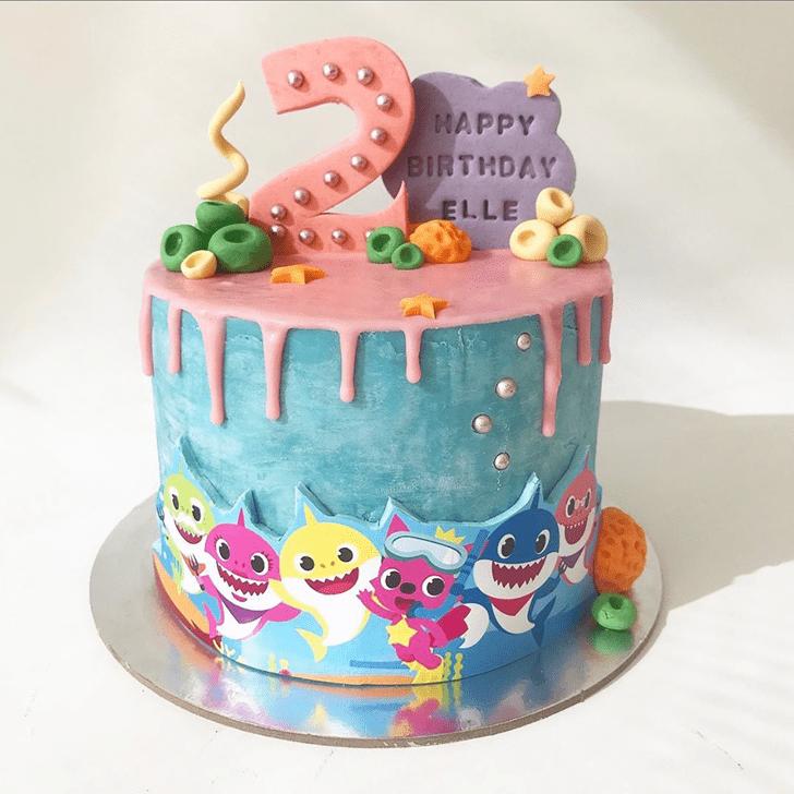 Inviting Coral Cake