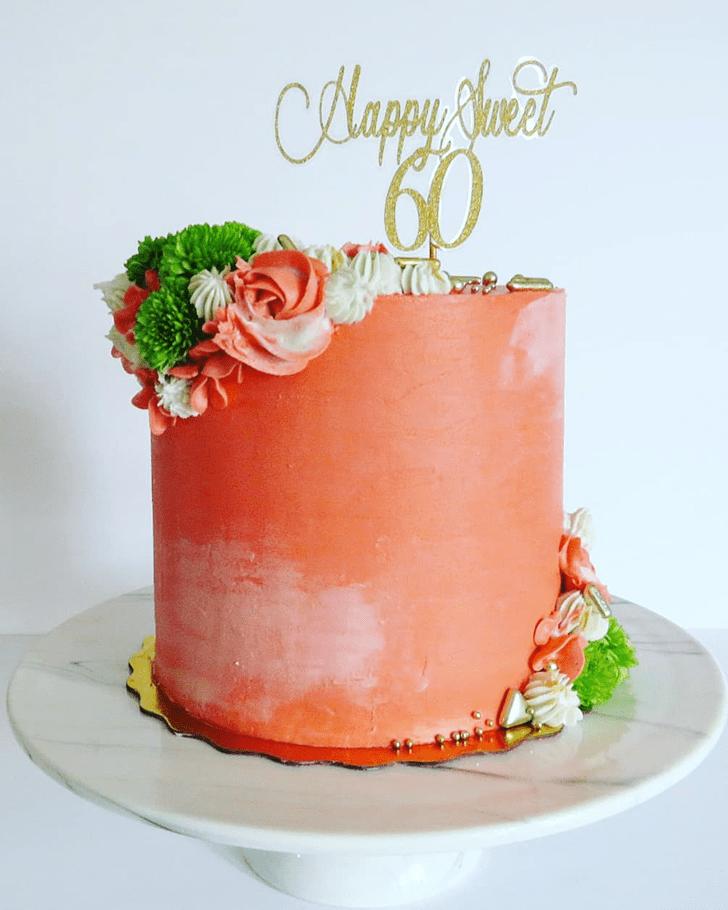 Radiant Coral Cake