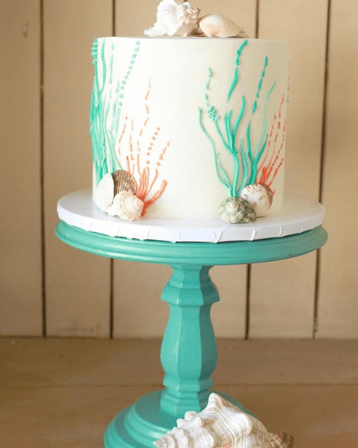 Resplendent Coral Cake