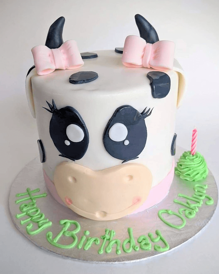 Enthralling Cow Cake