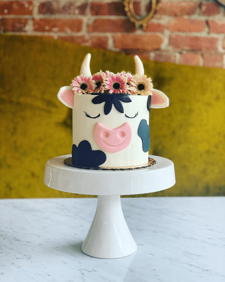 Handsome Cow Cake