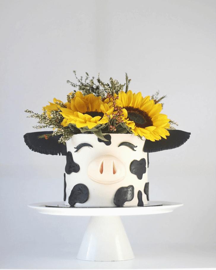 Inviting Cow Cake