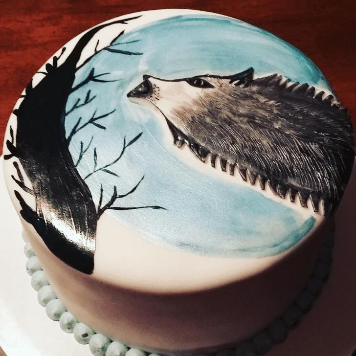 Charming Coyote Cake