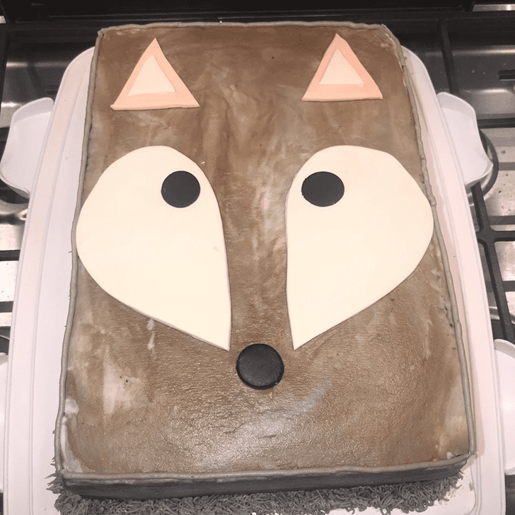 Classy Coyote Cake